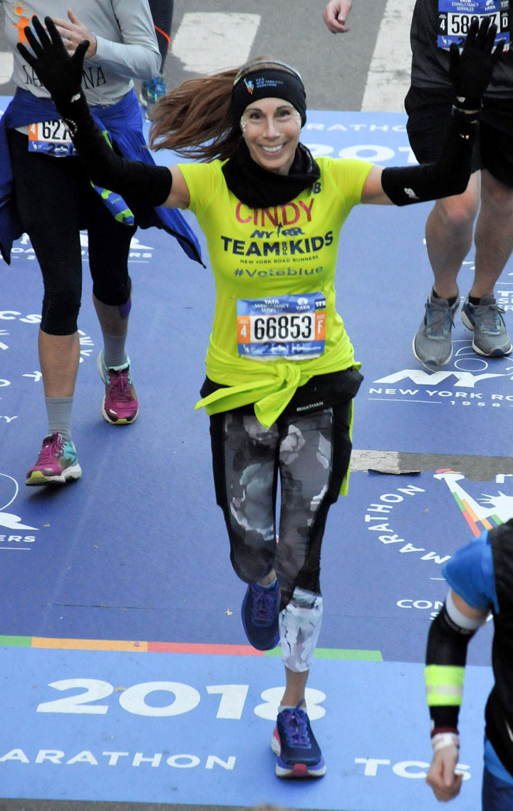 Cindy Finishes the Marathon
