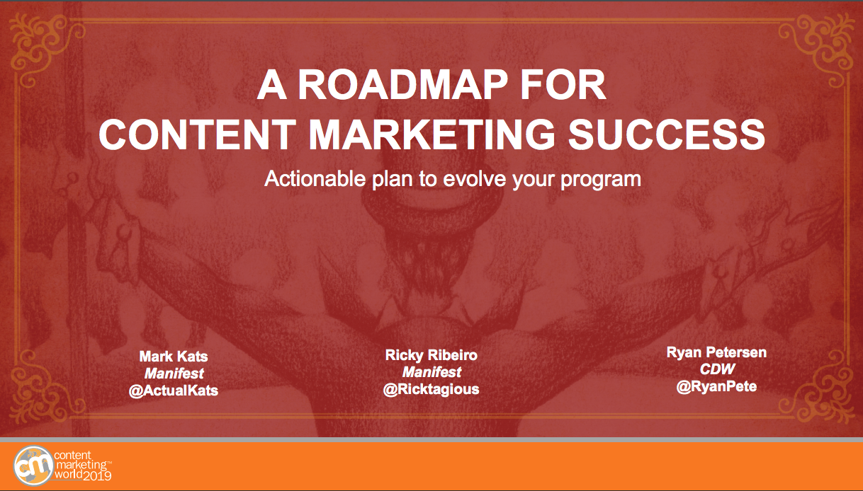 Opening Slide for Content Roadmap Deck