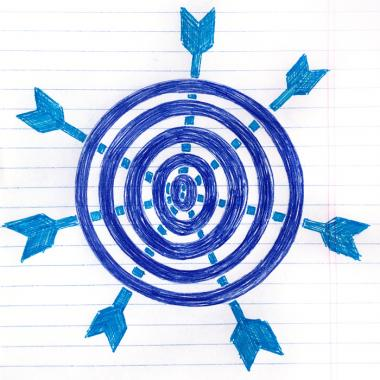 Doodle off a target with arrows